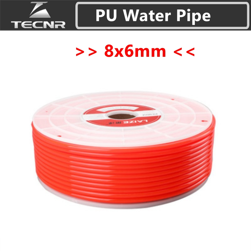 TECNR 8mm X 6mm PU Water Pipe Flexible For Water Pump For Cnc Engraving Cutting Machine