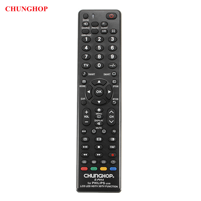 CHUNGHOP E-P914 TV Remote Control Replacement For Philips LED LCD HDTV 3DTV chunghop rm l7 multifunctional learning remote control silver