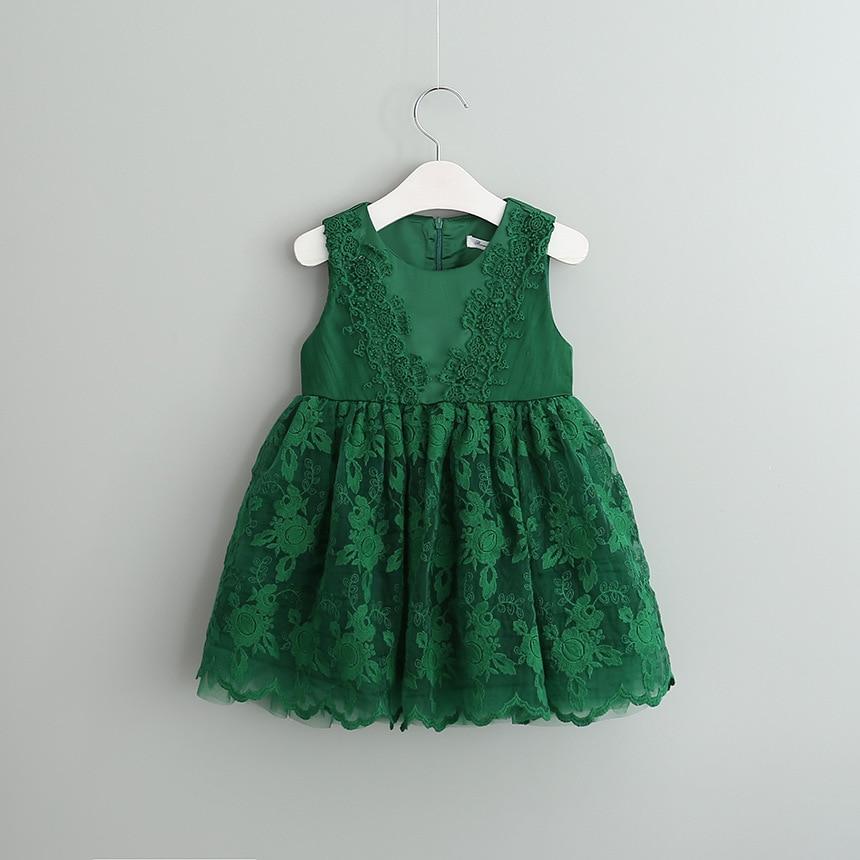 new 2017 summer dress lace flower girl dress for wedding clothes retro princess children dresses vestido infantil for 2~7 age