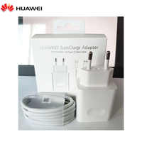Original Huawei P20 P30 Supercharge USB cargador rápido Enchufe europeo 4.5V5A tipo C USB 3,0 Cable de datos para P10 P9 plus Mate 9 10 pro lite