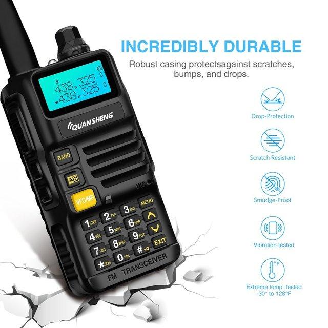 Quansheng UV R50 Walkie Talkie VHF UHF Dual Band Long Range UVR50 Handheld Ham 2 Way Radio UV R50 uv 5r 5W Transceiver Huntin