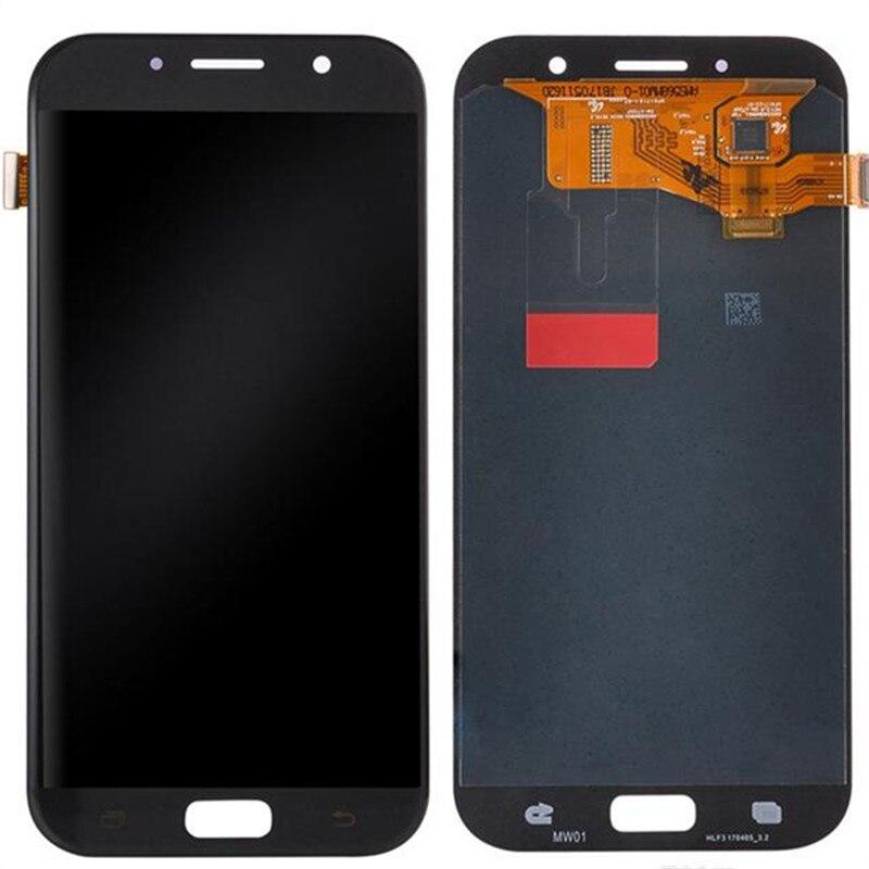 5 pcs/lot 100% Super AMOLED LCD Pour Samsung Galaxy A7 2017 A720 A720F A720M Affichage à L'écran Tactile Digitizer Assemblée Remplacement