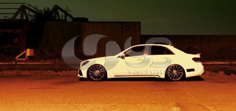 2013-2015 Mercedes Benz W212 E Class Sedan Wald Sports Line Black Bison Edition Style Body Kit FRP (12)