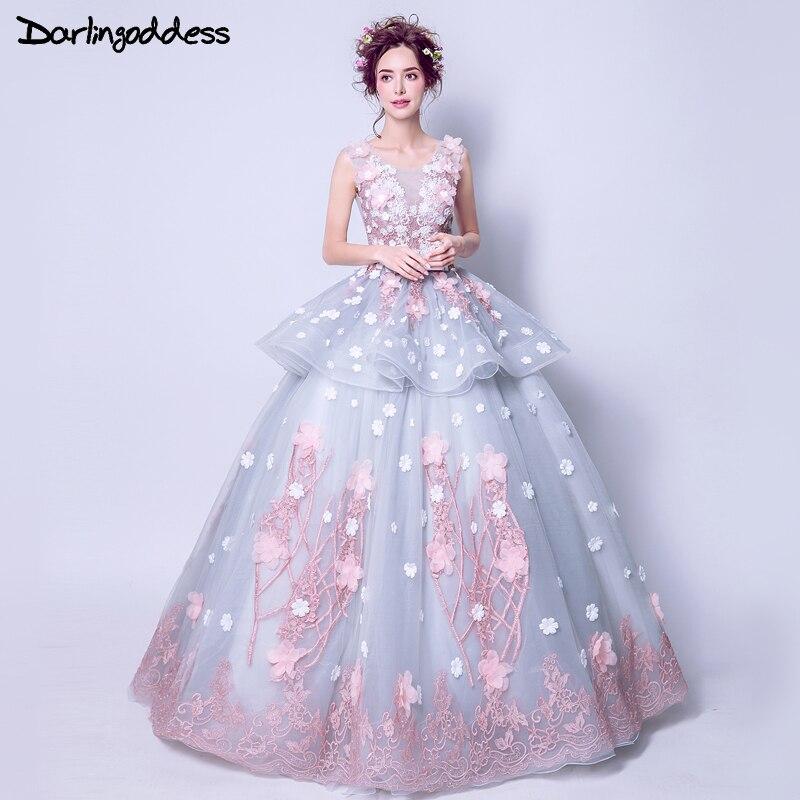 Real Pictures Ball Gown Wedding Dresses 2017 Arabic Dubai Lace Flowers Corset Princess Style Wedding Gowns Vestidos De Novia gown