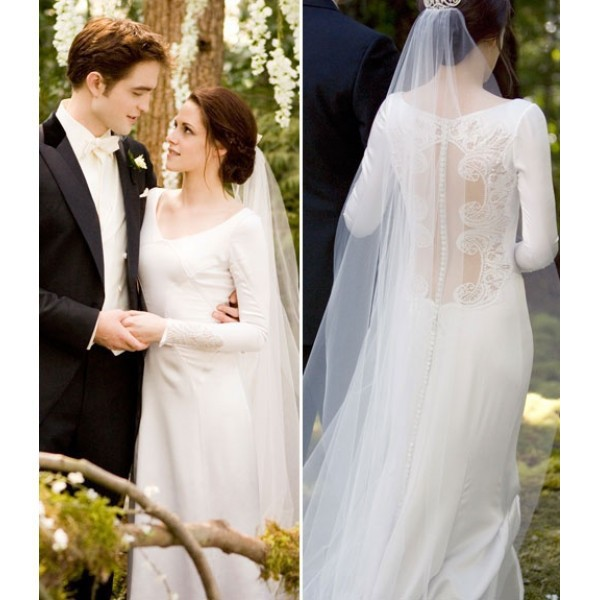 1ada93933fa Elegant Sexy Inspired Bella (Kristen Stewart) Wedding Dress in Movie  Twilight Breaking Dawn Ivory Mermaid Sheer Lace Bridal Gown