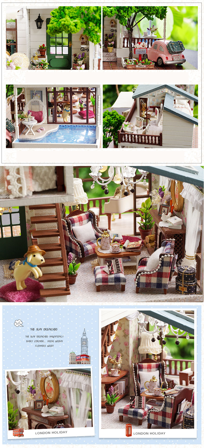 Cutebee London holiday DIY Dollhouse