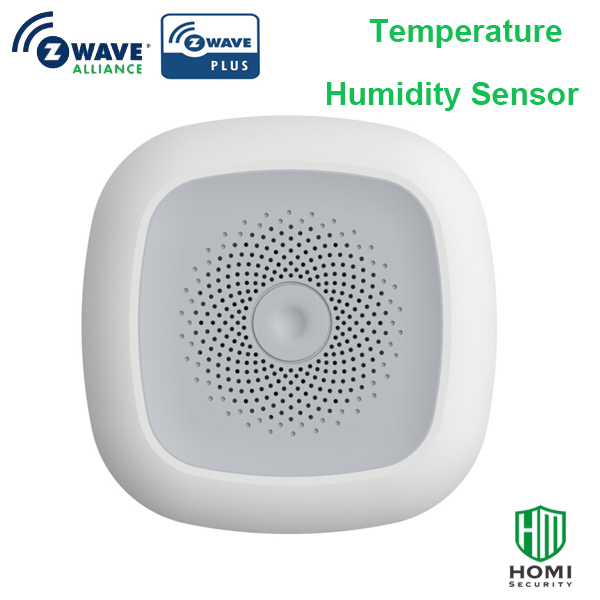 Wireless Z-wave Long Battery Use Life Real Time Monitoting Smart Temperature And Humidity Sensor