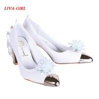 Anime Card Captor KINOMOTO SAKURA Clear Card Cosplay Shoes Women Shoes Angel SAKURA Shoes Princess Lady Crystal Shoes