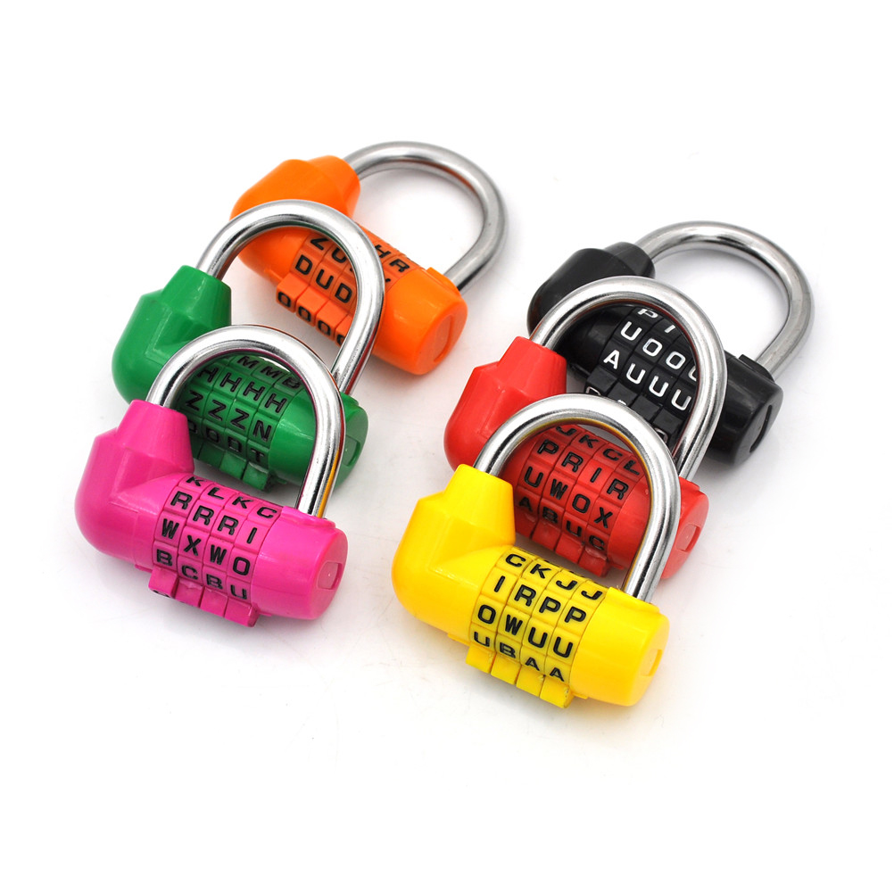 4 Dial Digit Letter Combination Travel Security Code Lock Diary Password Padlock Luggage Locks 6Colors