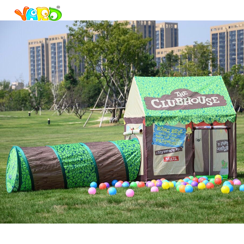YARD Play Tent Caste House For Kids Children Baby Tunnel Kids Toy Play Tents Tunnel Kids Play House For Christmas Gift Hot Sale