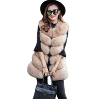 Faux Fur Coat Women New Fashion Fluffy Women Sleeveless Faux Fur Vest 8 Colors Fur Vest
