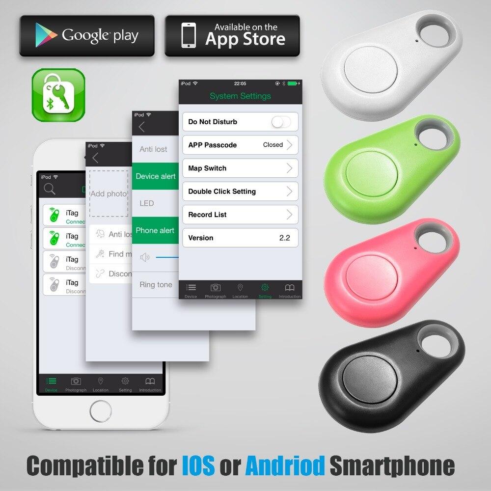 Fuers 1pc Black Wireless Smart ITag Bluetooth 4.0 Anti-Lost