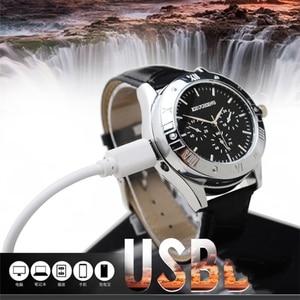 Image 4 - Aansteker Horloges mannen USB Opladen Quartz Horloge Militaire Vlamloze sigarettenaansteker outdoor mannelijke gift Horloges JH311