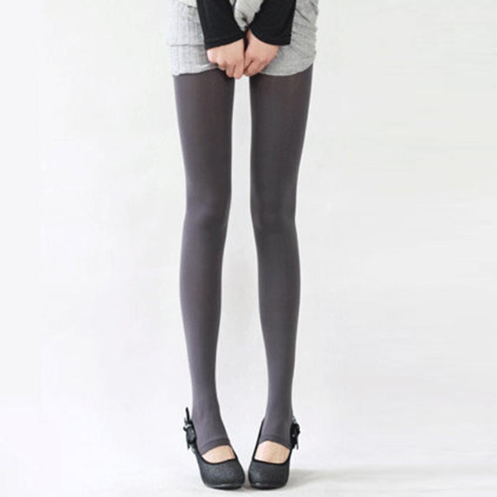 Шаг ноги женские теплые колготки 120D бархатные Collants весна осень Чулочные изделия Fantaisie сексуальные колготки эластичные Strumpfhose тонкие Medias - Цвет: Серый