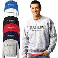 New Autumn And Winter Sweatshirt Ballin Amsterdam Print Long Sleeved Hoodies 100 Cotton Loose O Neck
