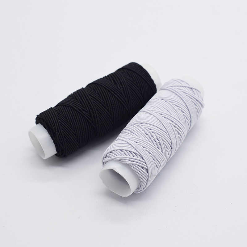 High Quality Elastic Thread sewing accessories Bottom Line Rope Cord elastique 30m/roll white black