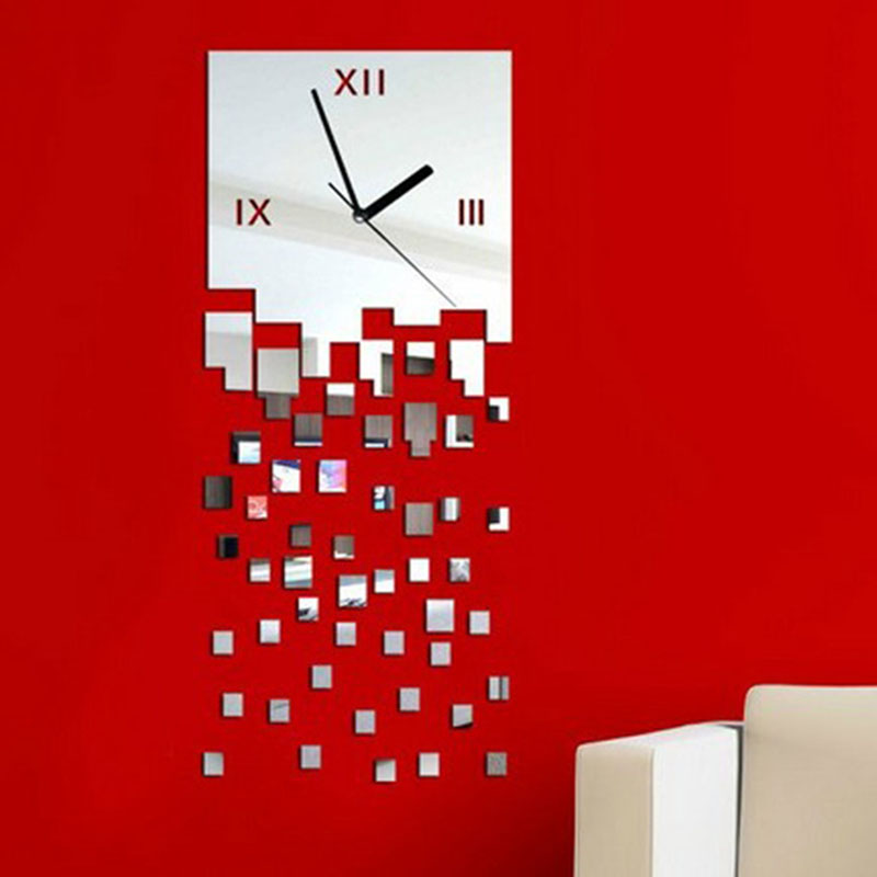 Fragment 2016 New Modern 3d <font><b>Home</b></font> <font><b>Decor</b></font> Quartz DIY Wall Clock Clocks Horloge Watch Living Room <font><b>Elegant</b></font> Designed Freeshiipping