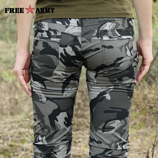 Women Combat Tactical Capris Camouflage Jogger Pants New 2017 Camo Print Sweatpants Joggers Casual Cargo Pants Plus Size 26-31 10
