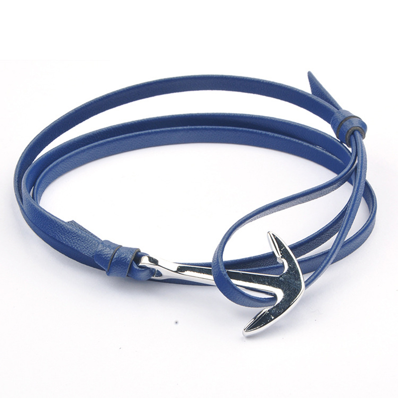 NIUYITID Antique Silver Anchor Bracelet For Women Classic Man Jewelry Accessories Nautical Sailor Female Lover Wristband  (3)