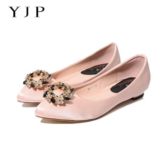 Yjp mujeres rhinestone flores Tacones bajos Zapatos, negro/rosa ...