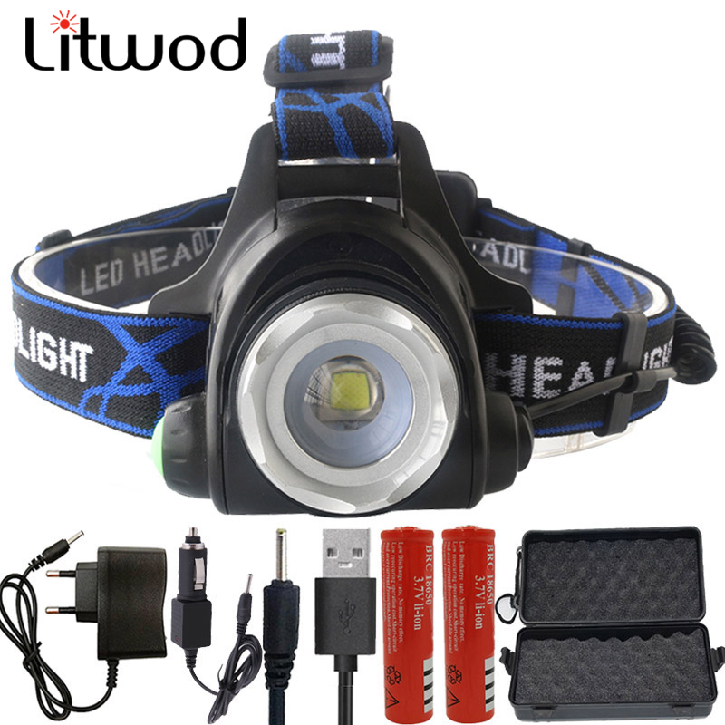 5000 Lumens Led Headlamp XML T6 L2 Led Headlight Lantern 4 Mode Waterproof Head flashlight Torch 18650 Rechargeable Battery