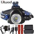 Litwod 8000LM Led Headlamp XML T6 L2 Led Headlight Lantern 4 Mode Waterproof Head flashlight Torch 18650 Rechargeable Battery