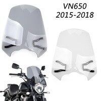 Areyourshop Motorcycle Accessories Windscreen Windshield Screen w/ Bracket For Kawasaki Vulcan S EN 650 2015 2018 New Arrival