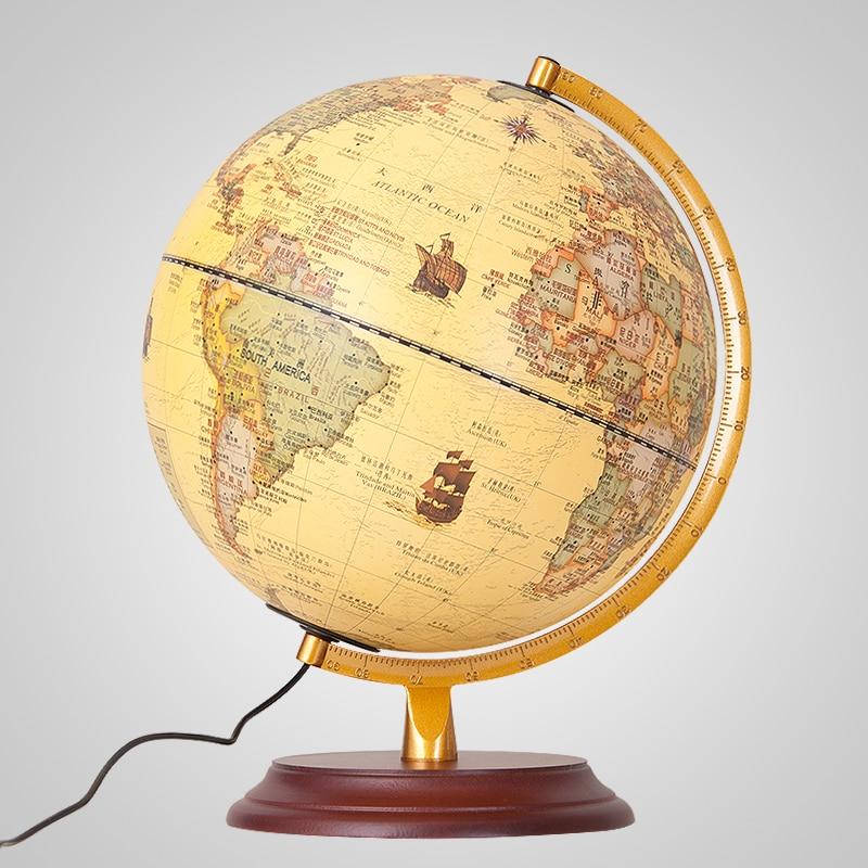 9Inch Antique Globe Table Lamp Desktop Decor Study Teaching Earth ...