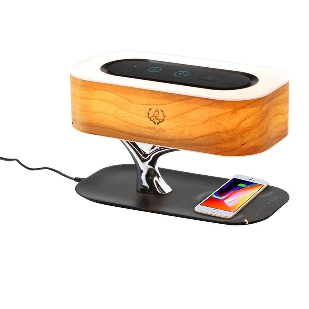 Wireless Charger AU/US/EU/UK Bedside Lamp with Bluetooth Multifunction Speaker and Wireless Charger Sleep Mode Stepless DimmingWireless Charger AU/US/EU/UK Bedside Lamp with Bluetooth Multifunction Speaker and Wireless Charger Sleep Mode Stepless Dimming
