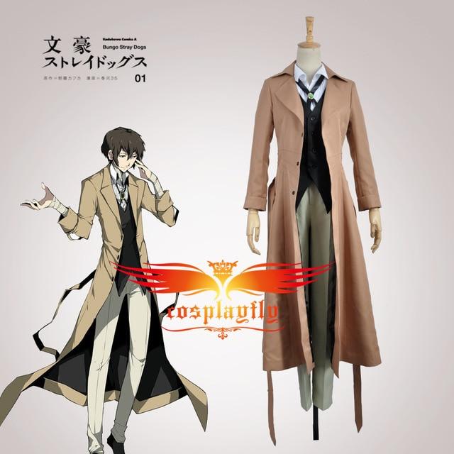 Bungo Stray Perros agencia de detectives armados Osamu dazai Cosplay traje  adulto hombres traje ropa Halloween ae719ad0d460