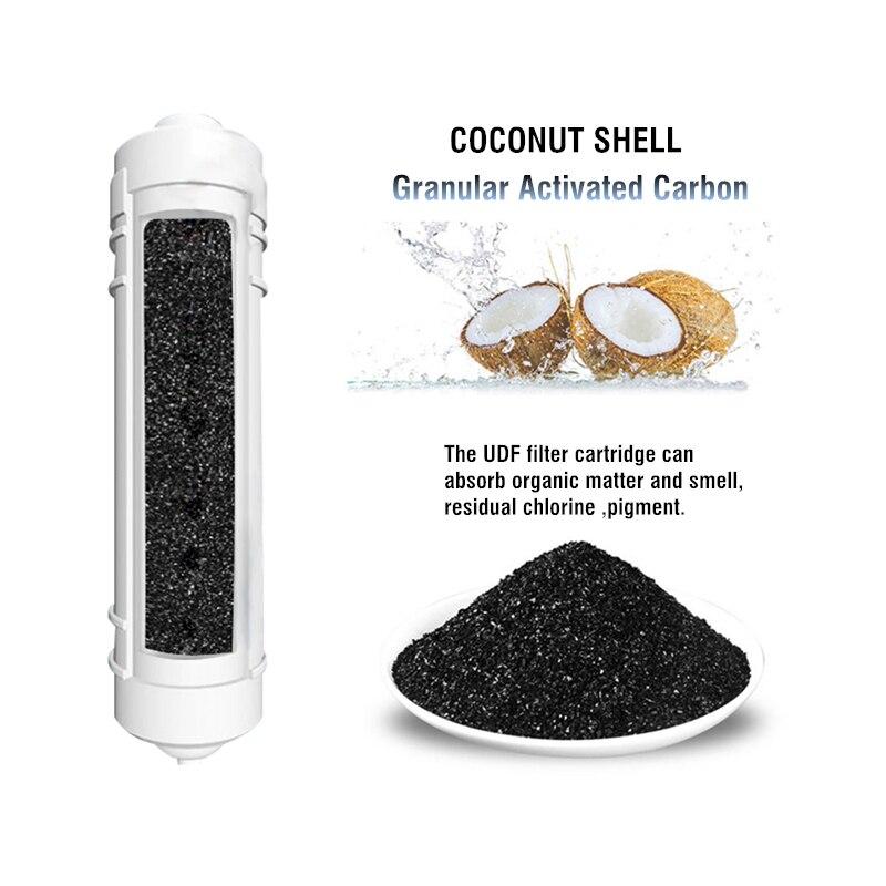 10 дюймов Quick Connect кокосовый уголь фильтра udf фильтров для воды обратного осмоса