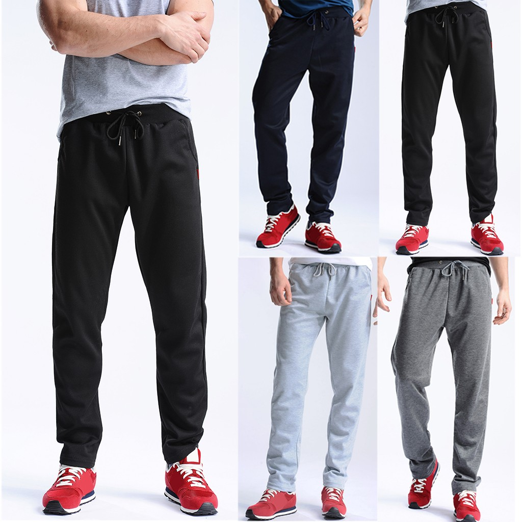 2019 Summer Men's New Solid Sport Breathable Large Size Casual Pants Joggers Streetwear Pantalones Hombre Pantalon Homme