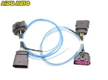 AIDUAUTO HID Xenon Headlight 10 to 14 Pin Connector Adapter harness Wire Cable For VW Golf 6 MK6 VI R20