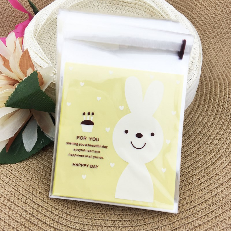 100pcslot 1011 Cm Plastic Packing Shopping Bags Cookies Bags