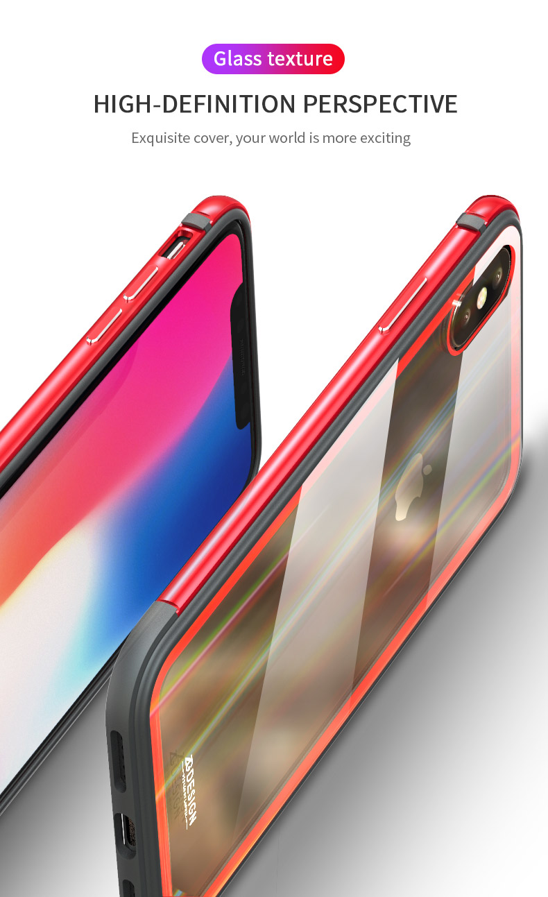 LUPHIE Aurora Laser Case Cover For iPhone X 7 8 Plus clear glass case  (4)