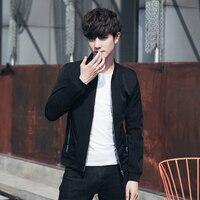 LEFT ROM Fall New Embroidered Pattern Men S Long Sleeve Jacket Teen Slim Elegant Comfort Clothing