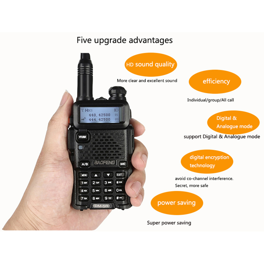 Image 4 - Baofeng DM 5R Digital Walkie Talkie Ham CB VHF UHF DMR Radio Station Double Dual Band Transceiver Boafeng Scanner Communicator-in Walkie Talkie from Cellphones & Telecommunications