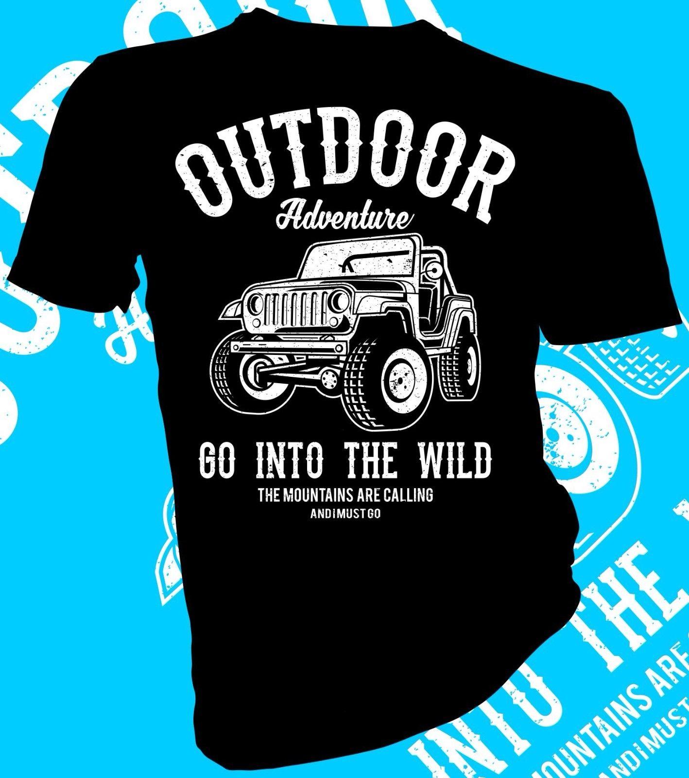 2018 Новая мода Для мужчин футболка Приключения перейдите в дикой природе, Джип, 4x4, автомобиль взрослых унисекс и женские футболки