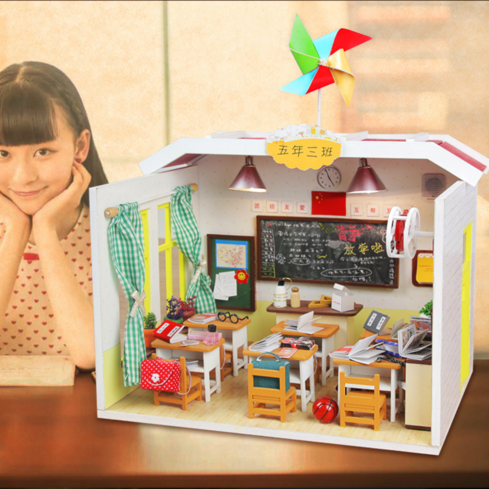 Aliexpress.com : Buy DIY Dollhouse Wooden House Toys Doll ...