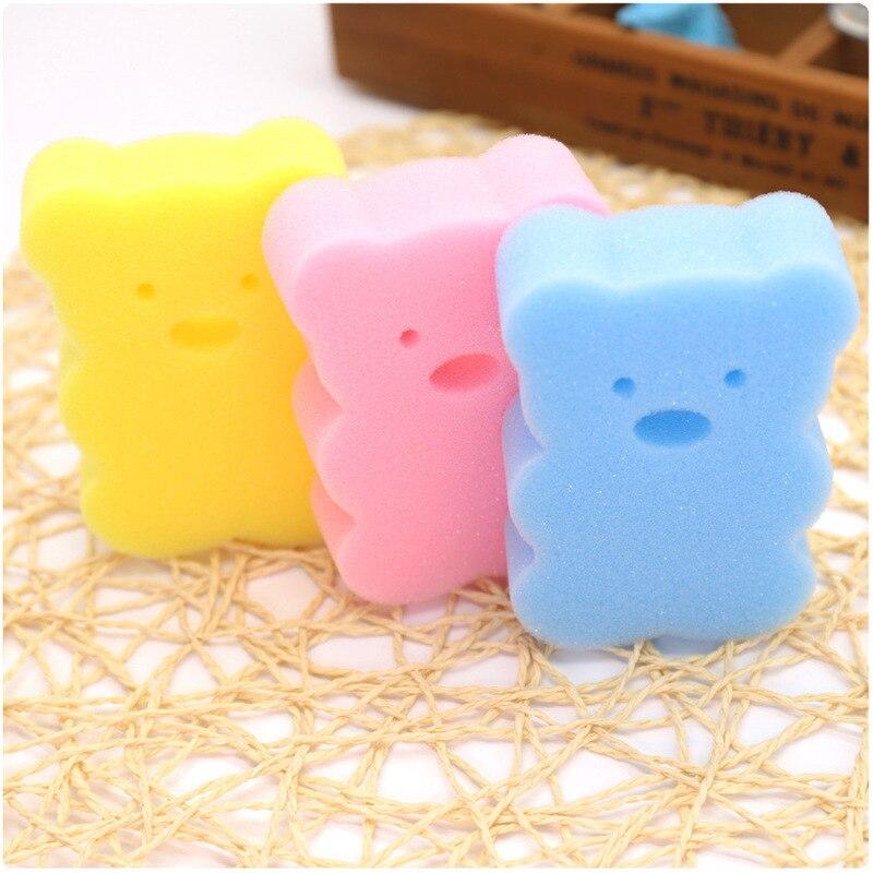 1 Pcs Newborn Baby Shower Cotton Rubbing Body Wash Towel Accessories Bath Sponge Rub Infant Toddle Kids Bath Brushes