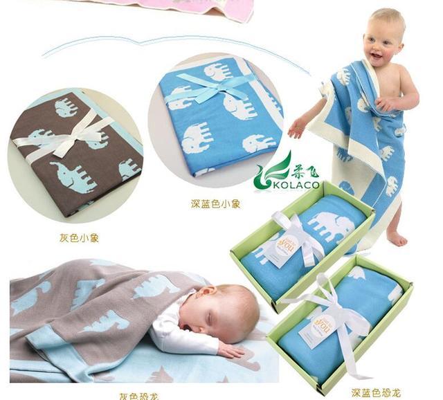 Roupões de Banho das crianças A nova Dupla malha de algodão de alta qualidade jacquard de algodão cobertor de malha de algodão cobertor do bebê cobertor do algodão