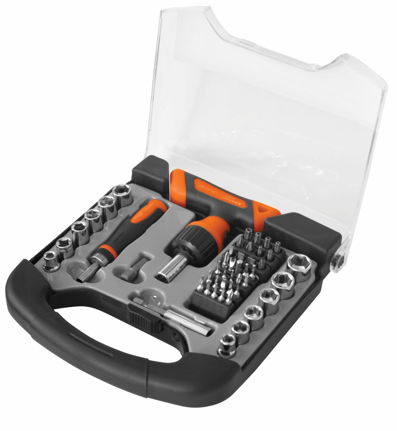Screwdriver set with bits and holders face heads Kraton Complect SSK-07 in the case abc kd 4t10 electric screwdriver torx bits set silver grey 4mm shank