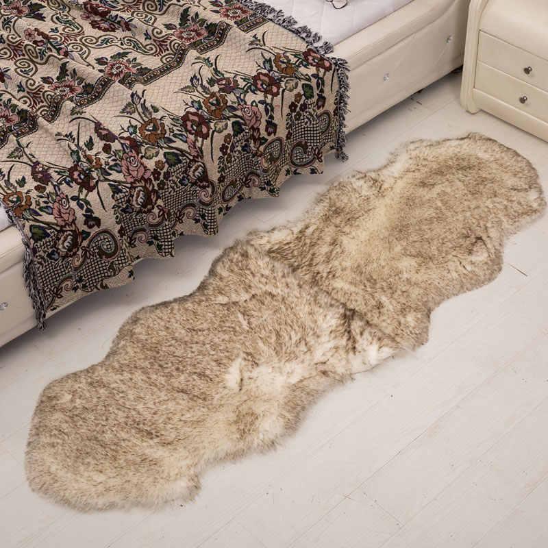 Sr 0 6 1 8m Soild Color Soft Sheepskin Carpet Furry Rug Faux Fur Area Rugs And Carpets For Livingroom Bedroom Bedside Carpets