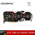 Colorful IGame 1060 U-3GD5 Desktop Graphics Card GeForce GTX 1060 GPU 8008MHz Chip 192bit GDDR5 PCI-E 3.0 DVI+HDMI+3*DP 3 Fans
