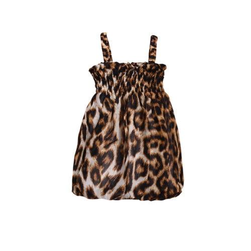 f58e8c32a Baby Girl Summer Leopard Print Dress Leopard Newborn Infant Baby Girls  Party Dress Sundress Clothes Outfits