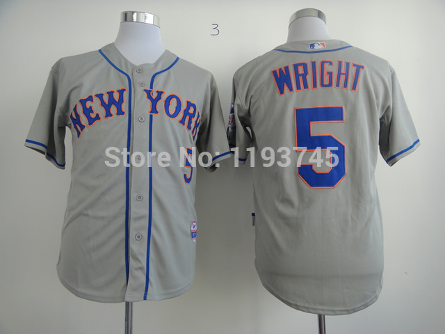 new styles e4197 981c5 mets 5 david wright white(blue strip) womens home stitched ...