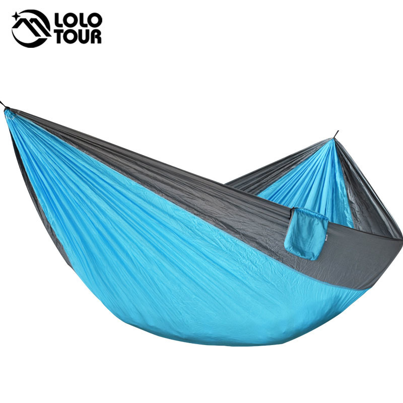 Super Large Parachute Hammock Portable Outdoor Survival Hamak Hanging Swing Sleeping Bed Chair For Garden Hunting Hamac outdoor double hammock portable parachute cloth 2 person hamaca hamak rede garden hanging chair sleeping travel swing hamac