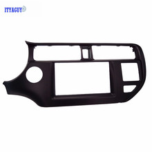 Alta calidad Doble Din Car Trim Panel Surround para Rio K3 LHD con SRS Agujero Radio DVD Montaje Montaje En Tablero Kit Fascias
