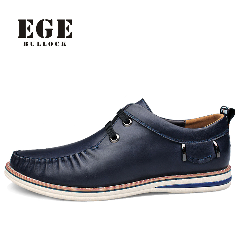 New Arrival Handmade Genuine Leather Men Loafers Soft No slip Rubber Sole Male Flats Lace up