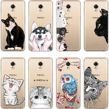 TPU Case For Meizu Meilan 2 3S A5 M2 M5 M5S M6 U20 Cover For Meizu M3 Max M6S Note U10 Pro 6 7 Plus 15 Lite M6T MX6 Cat Dog Case